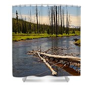 Lewis River Shower Curtain