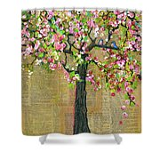 Lexicon Tree Of Life 4 Shower Curtain by Blenda Studio