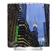 Lexington Avenue, Chrysler Building, New York  Shower Curtain by Juergen Held