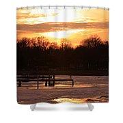 Lexington Harbor Sunset Shower Curtain