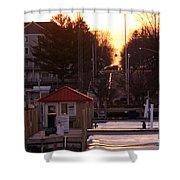 Lexington Harbor Shower Curtain by Kathy DesJardins