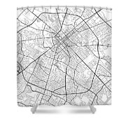 Lexington Kentucky Usa Light Map Shower Curtain