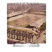 Leyton Orient - Brisbane Road - Aerial View 1 - Looking South East Shower Curtain