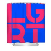 Lgbt Blue And Pink Shower Curtain