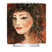 Li Lin Lin Lian Shower Curtain