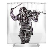 Lib-605 Shower Curtain