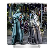 Liberties In Times Square Shower Curtain
