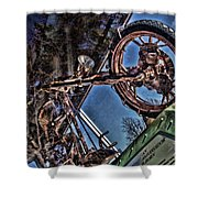 Liberty Ambassador Copper Motorcycle Statue Of Liberty Ny Shower Curtain