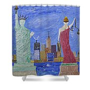 Liberty And Justice  Shower Curtain