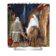 Liberty - Arriving In Bethlehem Shower Curtain