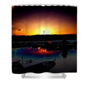 Liberty Bay Sunset Shower Curtain