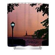 Liberty Fading Seascape Shower Curtain by Steve Karol