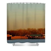 Liberty Island And The Statue Shower Curtain