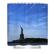 Liberty Island Statue Of Liberty Shower Curtain
