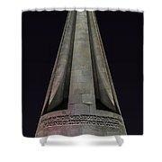 Liberty Memorial At Night Shower Curtain