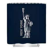 Liberty, New York, Popart Shower Curtain