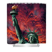 Liberty On Fire Shower Curtain