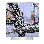 Liberty Square In Winter Shower Curtain