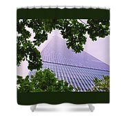 Liberty Tower Framed By Trees Shower Curtain