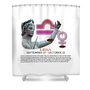 Libra Sun Sign Shower Curtain