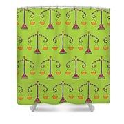 Libra Zodiac Sign Pattern Shower Curtain