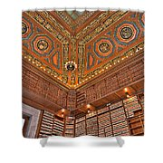 Library Details Shower Curtain