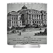 Library Of Congress Proposal 2 Shower Curtain