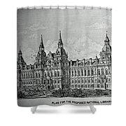 Library Of Congress Proposal 4 Shower Curtain