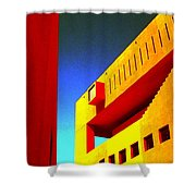 Library On A Clear Day Shower Curtain