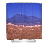 Licancabur Volcano Seen From The Atacama Desert Chile Shower Curtain