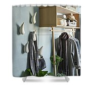 Licetto Barbedos Blue Shower Curtain