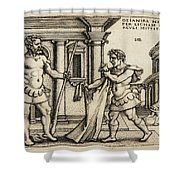 Lichas Bringing The Garment Of Nessus To Hercules Shower Curtain
