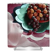 Lichees And Grapes Shower Curtain