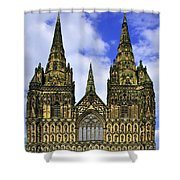 Lichfield Cathedral - The West Front Shower Curtain