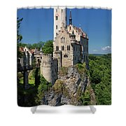 Lichtenstein Castle Shower Curtain by Yair Karelic