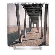Lido Beach In Spring Shower Curtain