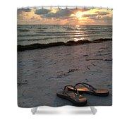 Lido Beach Sandals Shower Curtain