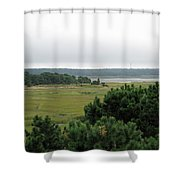 Lieutenant Island Marsh Shower Curtain