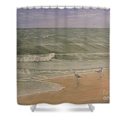 Life At The Sea Shore Shower Curtain
