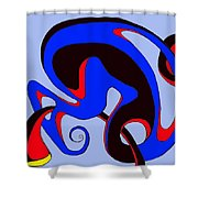 Life Circuits Shower Curtain