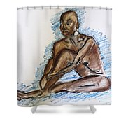 Life Drawing Study Shower Curtain
