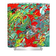 Life Energy Five  Shower Curtain