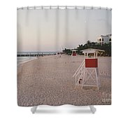 Life Guard 3 D  Shower Curtain