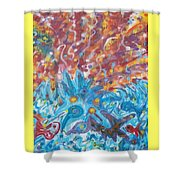 Life Ignition Mural V1 Shower Curtain