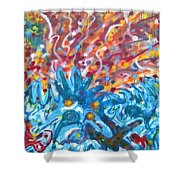 Life Ignition Mural V2 Shower Curtain