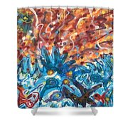 Life Ignition Mural V3 Shower Curtain