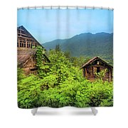 Life In A Mountains Shower Curtain