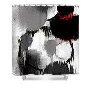 Life In Black And White Shower Curtain by KR Moehr