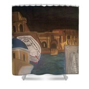 Life In Europe Shower Curtain