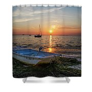 Life In Florida Shower Curtain